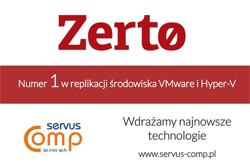 zerto - technologia Servus Comp Kraków poleca