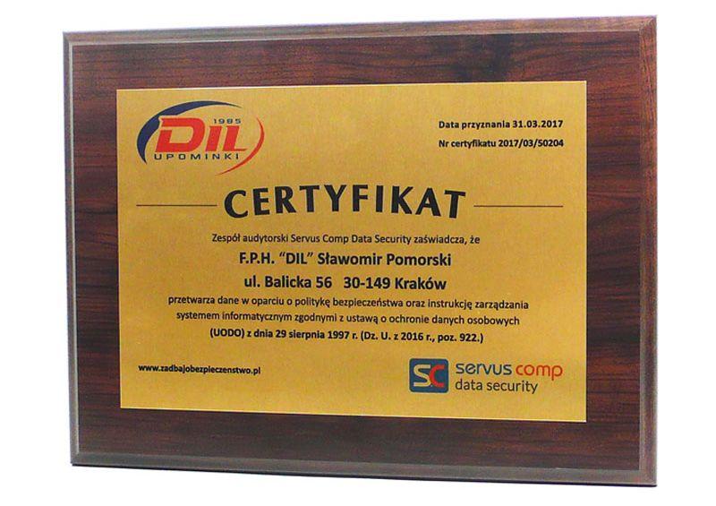 certyfikat-bezpieczeństwa polityka bezpieczeństwa Servus Comp Kraków
